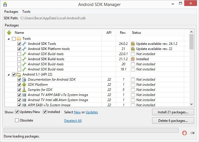 Android Studio | SDK Manager